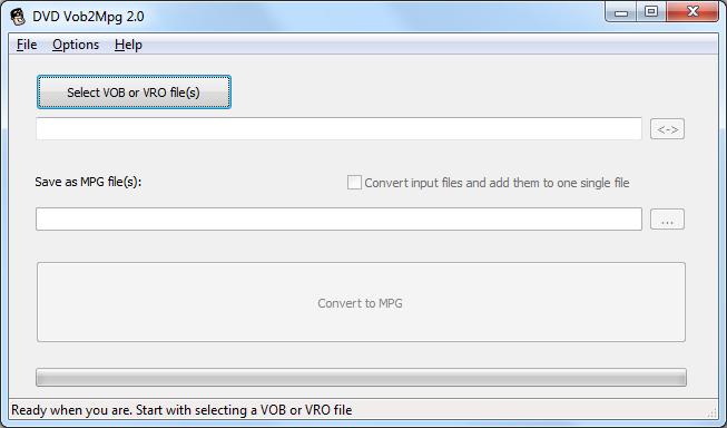 Click to view DVDVob2Mpg screenshots